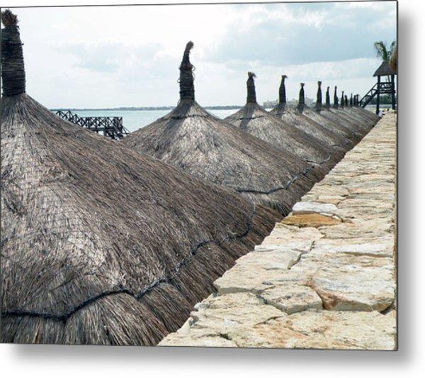 Beach Huts At The Grand Mayan Metal Print