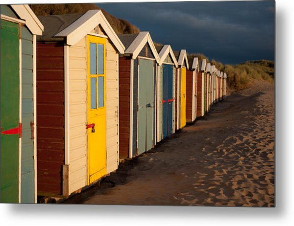 Beach Huts II Metal Print