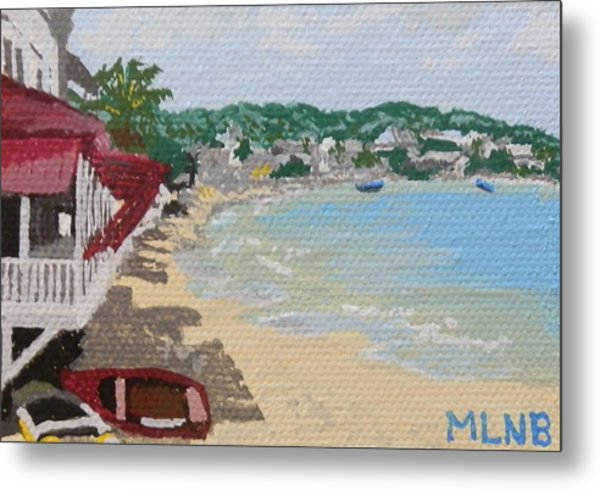 Beach In Grand Case Metal Print