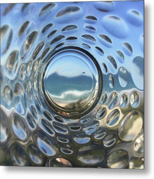 Beach Life Through The Looking Glass Metal Print