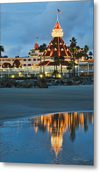 Beach Lights Metal Print