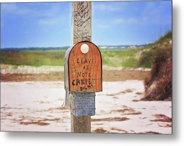 Beach Mail Metal Print