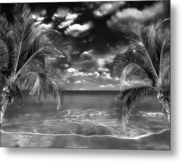 Beach Of Forgotten Colours Metal Print