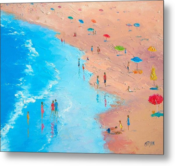 Beach Painting - A Sweltering Day Metal Print