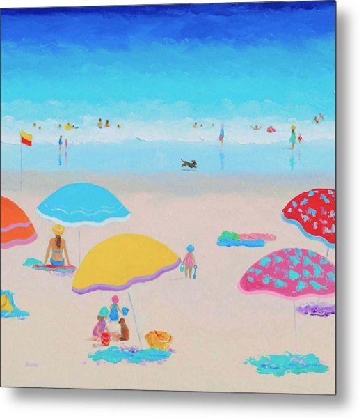 Beach Painting - Ah Summer Days Metal Print