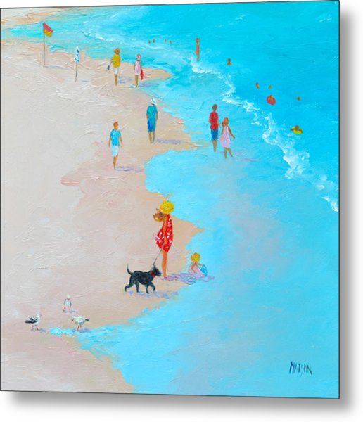 Beach Painting - Beach Day - By Jan Matson Metal Print