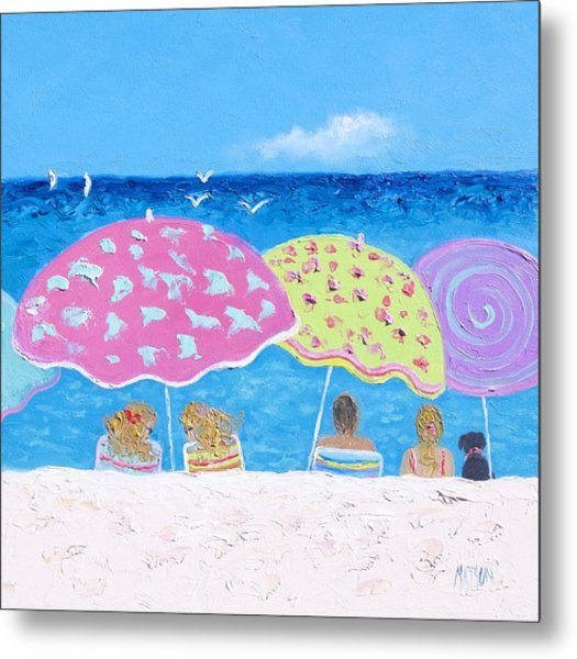 Beach Painting - Lazy Summer Days Metal Print