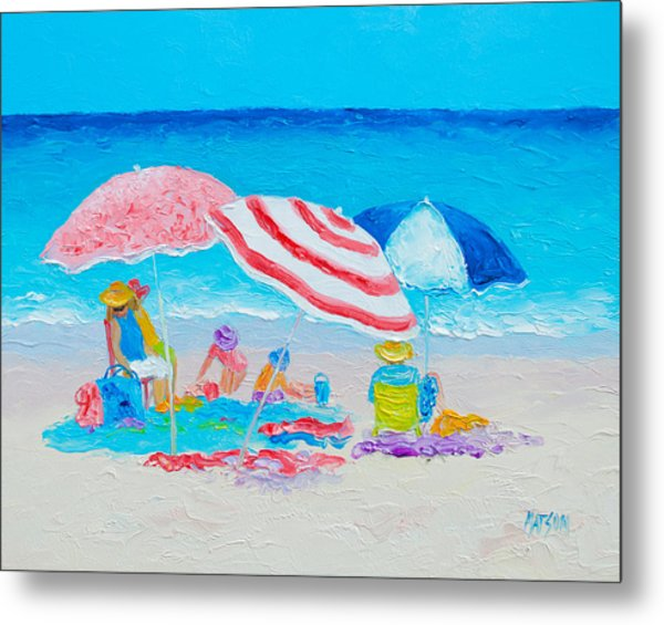 Beach Painting - Summer Beach Vacation Metal Print