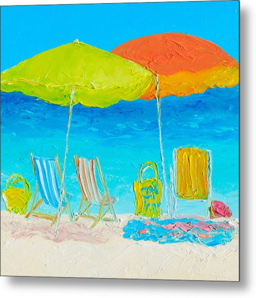 Beach Painting - Sunny Days Metal Print