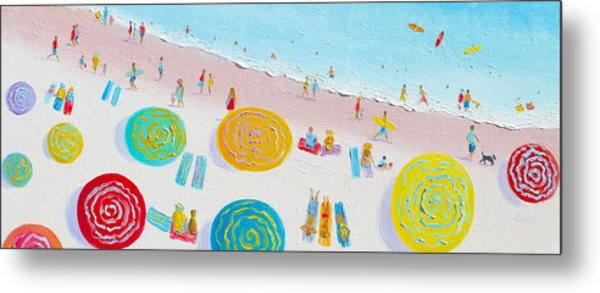 Beach Painting - The Simple Life Metal Print