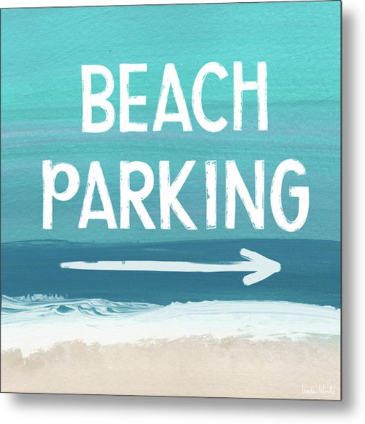Beach Parking- Art By Linda Woods Metal Print