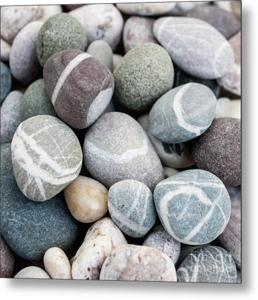 Metal Print featuring the photograph Beach Pebbles Close Up by Elena Elisseeva
