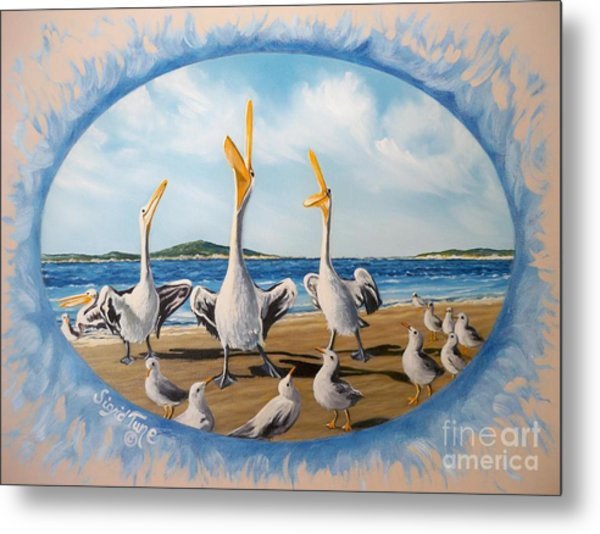 Privileged. Pelican  Procedure Prevailed   Metal Print