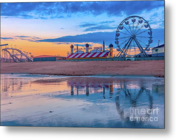 Beach Reflections Metal Print