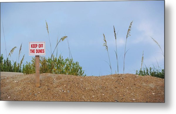 Beach Signs Metal Print by JAMART Photography