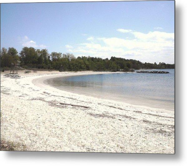 Beach Solomons Island Metal Print