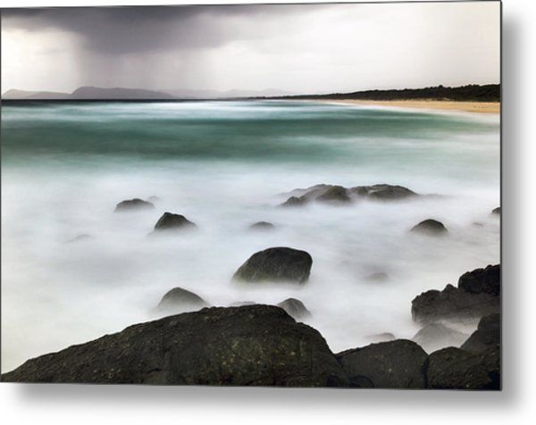 Metal Print featuring the photograph Beach Squall by Nicholas Blackwell