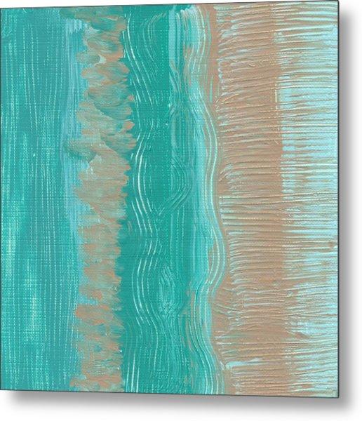 Beach Stripes  Metal Print