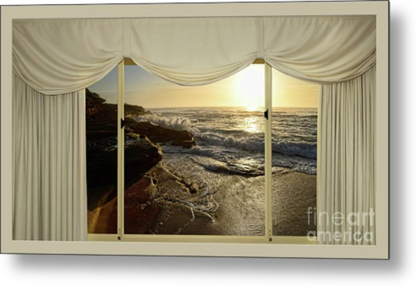 Beach Sunrise From Your Home Or Office By Kaye Menner Metal Print