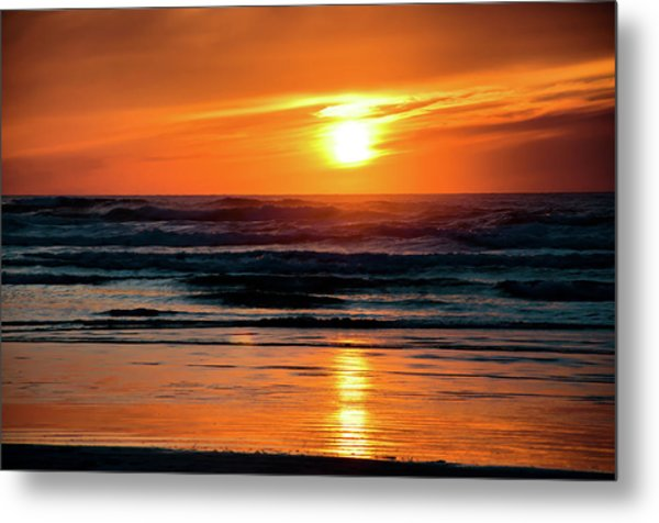 Metal Print featuring the photograph Beach Sunset by Bryan Carter