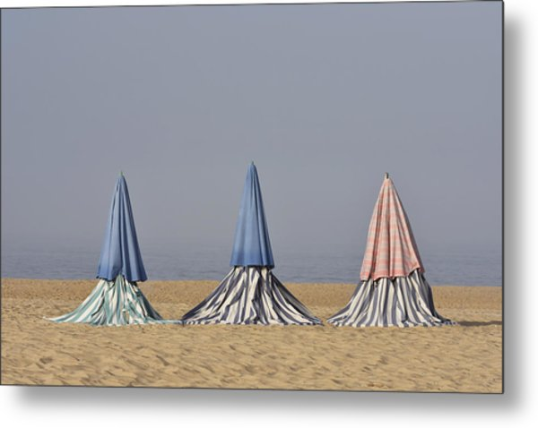Beach Tents Metal Print