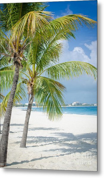 Beach Time In Turks And Caicos Metal Print