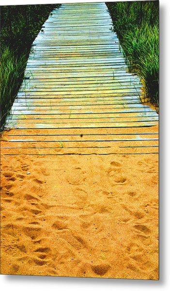 Beach  Walkway Metal Print