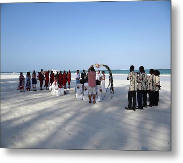 Beach Wedding In Kenya Metal Print