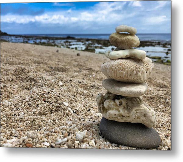 Beach Zen Metal Print