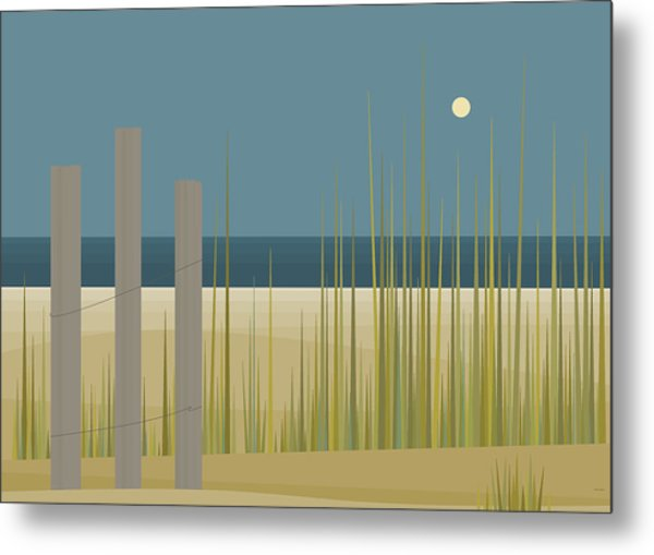 Beaches - Fence Metal Print