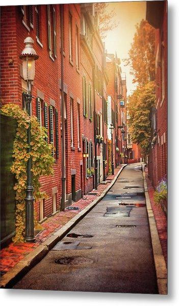 Beacon Hill Area Of Boston  Metal Print