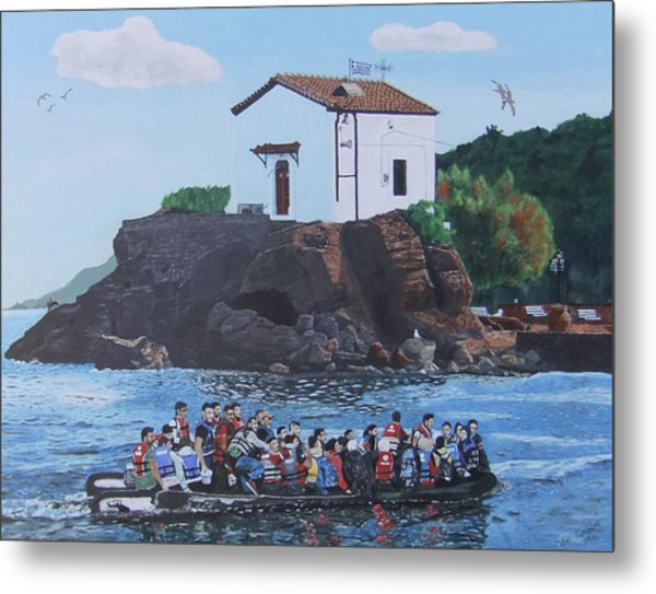 Metal Print featuring the painting Beacon Of Hope by Eric Kempson