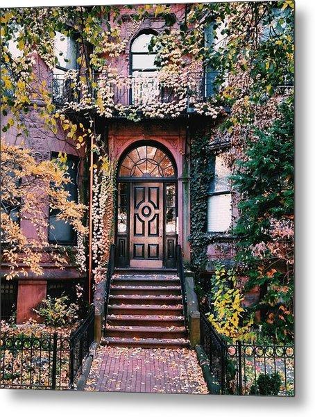 Beacon Street Golden Doortrait Metal Print
