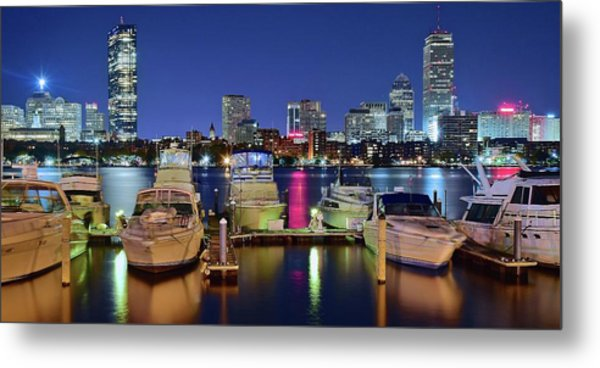 Bean Town Boats And Buildings Metal Print