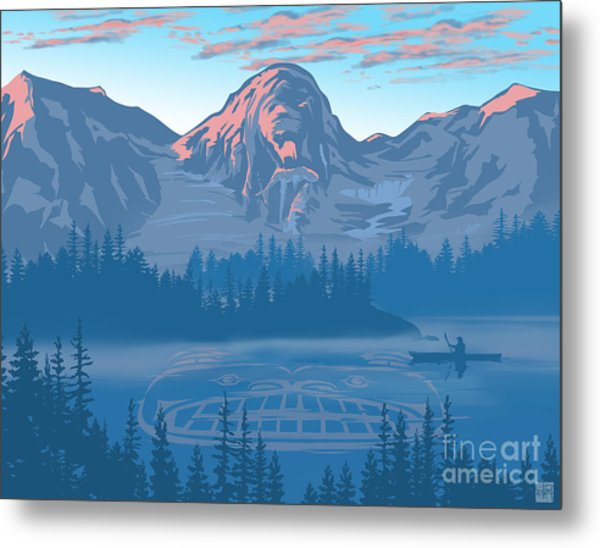 Bear Country Scenic Landscape Metal Print