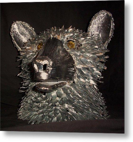 Bear Head Bust Metal Print by Jeff Orebaugh