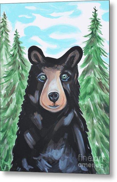 Bear In The Woods Metal Print