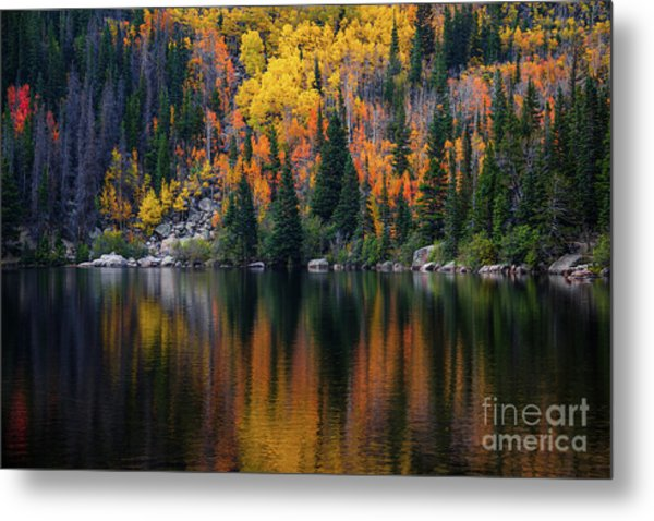 Bear Lake Autumn Reflections Metal Print