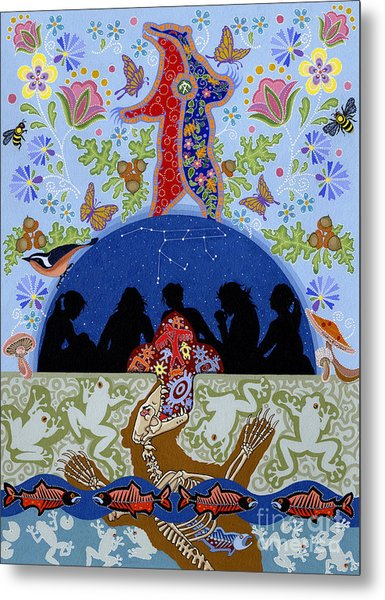 Metal Print featuring the painting Bear Medicine by Chholing Taha