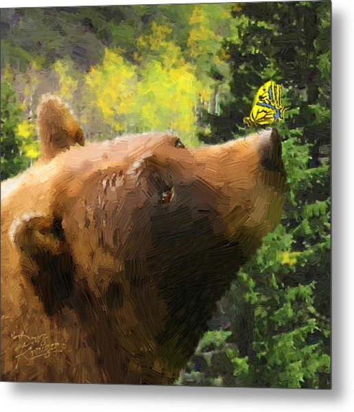 Bear - N - Butterfly Effect Metal Print