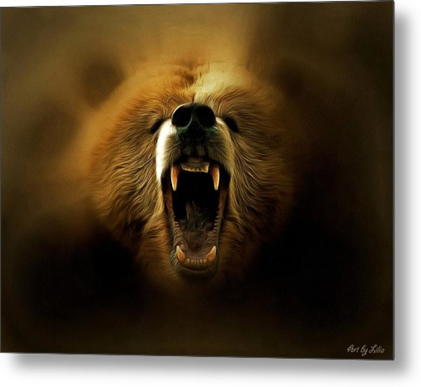 Bear Roar Metal Print
