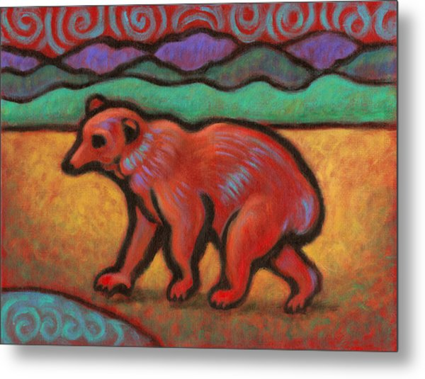 Bear Totem Animal Metal Print