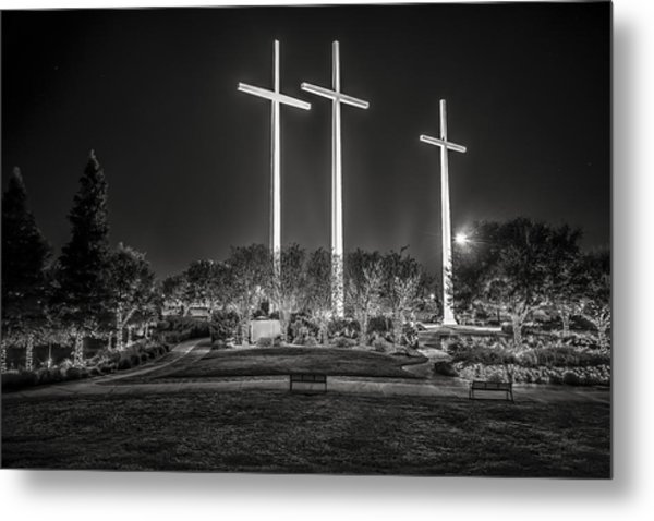 Bearing Witness In Black-and-white 2 Metal Print