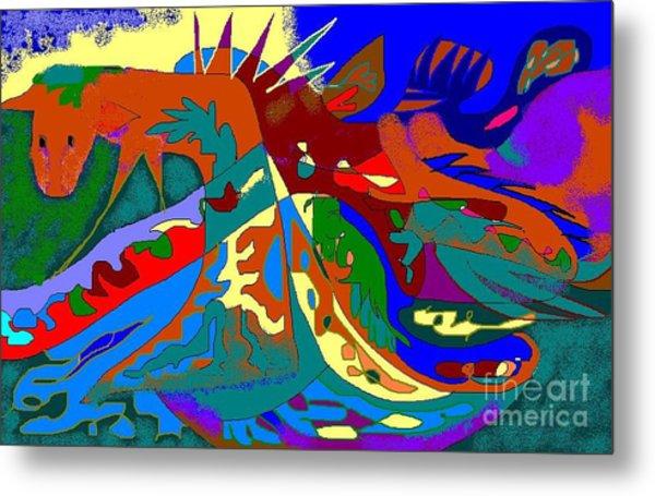 Beast In Colorful Coat Metal Print by Beebe  Barksdale-Bruner