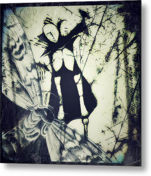 Metal Print featuring the digital art Beating Of Wings by Delight Worthyn