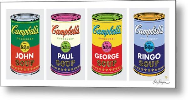 Beatle Soup Cans Metal Print