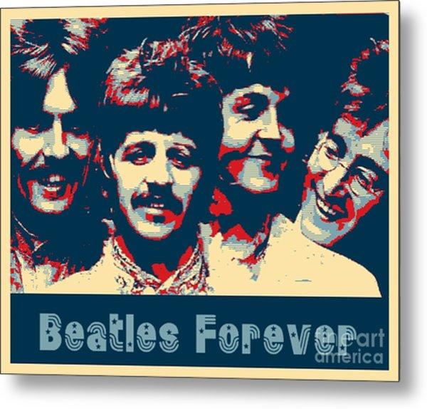 Beatles Forever Metal Print
