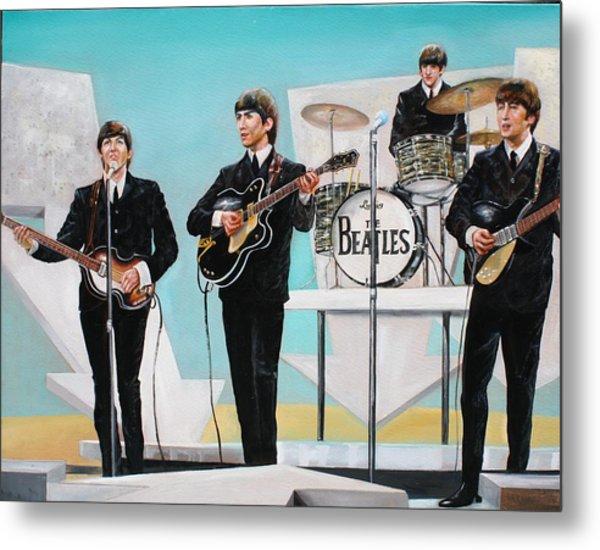 Beatles On Ed Sullivan Metal Print by Leland Castro