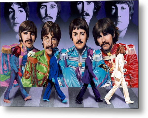 Beatles - Walk Away Metal Print
