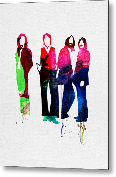 Beatles Watercolor Metal Print